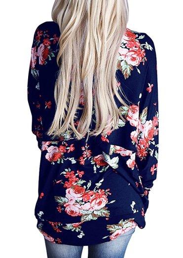 AMiERY Women's Floral Kimono Boyfriend Cardigan Open Front Fall Sweaters_2