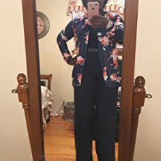AMiERY Women's Floral Kimono Boyfriend Cardigan Open Front Fall Sweaters_6