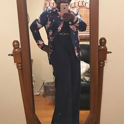 AMiERY Women's Floral Kimono Boyfriend Cardigan Open Front Fall Sweaters_7