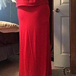 Azules Women_s Rayon Span Maxi Skirt_6
