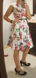 GRACE KARIN BoatNeck Sleeveless Vintage Tea Dress with Belt_2