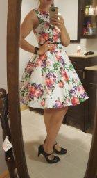 GRACE KARIN BoatNeck Sleeveless Vintage Tea Dress with Belt_3