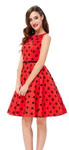 GRACE KARIN BoatNeck Sleeveless Vintage Tea Dress with Belt_6