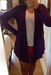 LL Womens Long Sleeve Draped Open Front Cardigan_4