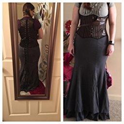 Victorian Gothic Ruffle Steampunk Vintage Style Skirt_5
