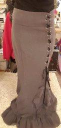 Victorian Gothic Ruffle Steampunk Vintage Style Skirt_6