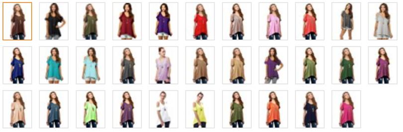 Women's Vogue Shoulder Off Wide Hem Design Top Shirt_7