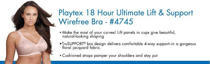 Playtex Women's 18-Hour Ultimate Lift And Support Wire-Free Bra_9
